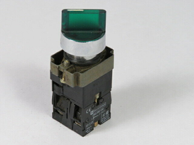 Telemecanique XB2-BK2365 Selector Switch Illum 2-Pos 400V 1NO 1NC  USED