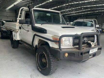 2008 Toyota Landcruiser VDJ79R Workmate White Manual Cab Chassis Boolaroo Lake Macquarie Area Preview