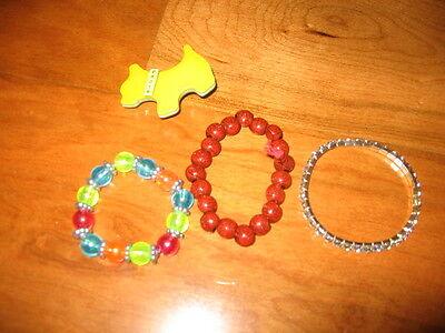 3 Armbänder und eine Broiche für Mädchen