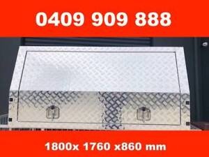 DUAL CAB JACK OFF CHECKER PLATE ALLOY CANOPY 3 DOORS Wantirna South Knox Area Preview
