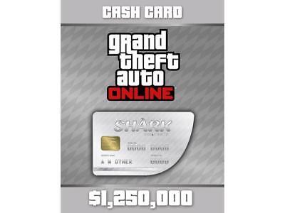 Grand Theft Auto V Great White Shark Cash Playstation 4 Ps4  1 250 000 Gta 5