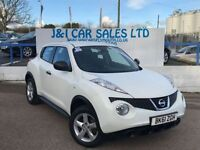 NISSAN JUKE 1.6 VISIA 5d 117 BHP A LOW PRICE 5DR FAMILY HATCHB (white) 2011