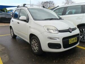 2015 Fiat Panda 150 Easy Dualogic White 5 Speed Sports Automatic Single Clutch Hatchback Minchinbury Blacktown Area Preview