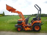 KUBOTA BX2200 WITH LOADER 4X4 CUTTING DECK