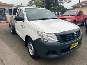 2013 Toyota Hilux TGN16R MY12 Workmate White 5 Speed Manual Cab Chassis Waratah Newcastle Area Preview