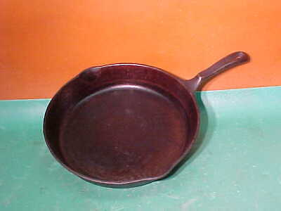 """Vintage Wagner's 1891 Cast Iron Frying Pan 11 3/4"""" Skillet W/Double Spout"""