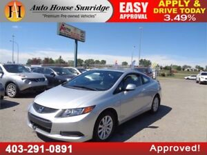 2012 HONDA CIVIC COUPE EX-L LEATHER NAVI SUNROOF LOW KM!!!