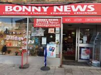 NO DEPOSIT, NO GOODWILL, Successful Newsagent in Bonnyrigg, Midlothian.