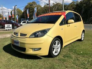 2004 Mitsubishi Colt RG XLS Yellow Continuous Variable Hatchback Clontarf Redcliffe Area Preview