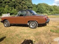 1978 MG MIDGET 1500 UNTOUCHED NEVER WELDED ZEIBART FROM NEW
