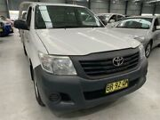 2012 Toyota Hilux TGN16R MY12 Workmate White Manual Cab Chassis Boolaroo Lake Macquarie Area Preview