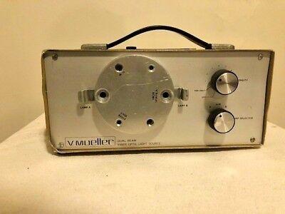 V. Mueller Dual Beam Fiber Optic Light Source 41202