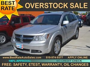 2009 Dodge Journey SXT AWD for 7 PASSENGERS has SUNROOF