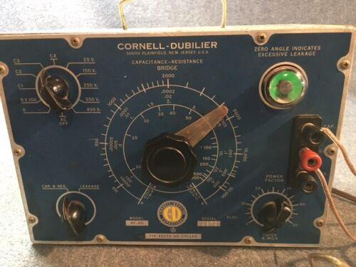 Cornell-Dubilier Capacitance Resistance Bridge