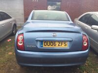 NISSAN MICRA CONVERTIBLE 2006 MANUAL PETROL 1.4 , ROOF TOP FULLY WORKING , PERFECT CAR