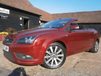 0707 FORD FOCUS 2.0 CC-2 POWER FOOF CONVERTIBLE GRENADINE RED PEARL MET/CHARCOAL