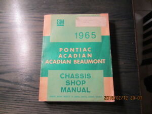 shop manual pontiac acadian et acadian beaumont 1965