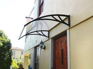 Polycarbonate Awning for Window & Door House canopy UV protected Clear 40W×40L(100cm×100cm) ITEM NUMBER 190121