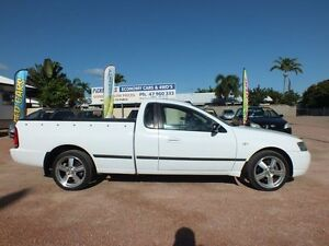 2003 Ford Falcon BA XL Super Cab White 4 Speed Automatic Cab Chassis Rosslea Townsville City Preview