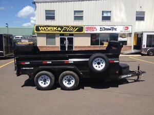 "New 2016 Weberlane 6'6"" x 12' Contractor Dump Trailer"