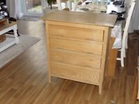 Set of four oak drawers by 'and so to bed-London with Hafele pneumatic soft closers