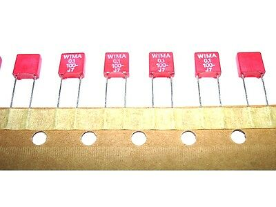 25pcs 0.1uf .1uf 100v 20 Wima Mks-2 Quality Audio Capacitors New