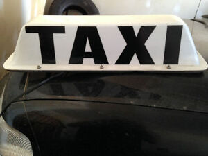"Taxi sign large 24"" (magnetic roof top)"