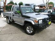 2011 Toyota Landcruiser VDJ79R 09 Upgrade GXL (4x4) Silver 5 Speed Manual Cab Chassis Kingsgrove Canterbury Area Preview