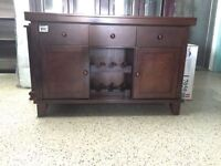 BUFFET IN BROWN SOLID WOOD FOR ONLY 299$