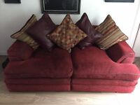 DFS two seater settee and chair