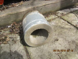 cement and metal wall insert for stove pipe