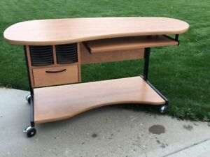 Desk for Sale - mobile with large casters