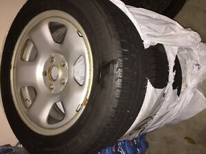 Winter tires & rims (4) for Acura TL 2009-2013 Kitchener / Waterloo Kitchener Area image 2
