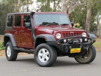 2007 Jeep Wrangler JK Unlimited Sport Red 6 Speed Manual Softtop Melrose Park Mitcham Area Preview