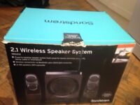 Sandstrom Wireless 2.1 speakers . Good as new, in the box, see picture
