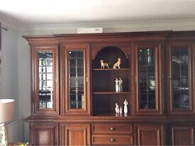 Mahogany display Cupboard