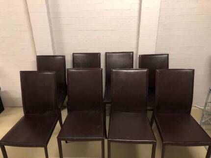 FREE 8 x FREEDOM leather chairs