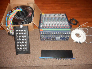 16 Channel Sound Board and Brand New 100' Snake