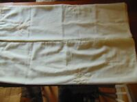 Cotton/Voile Curtains with Tie Backs 46 x57 Inch Ivory/Gold