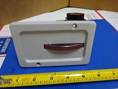 Microscope Part Reichert Leica Polyvar Filter Wheel Optics As Is 65-a-23