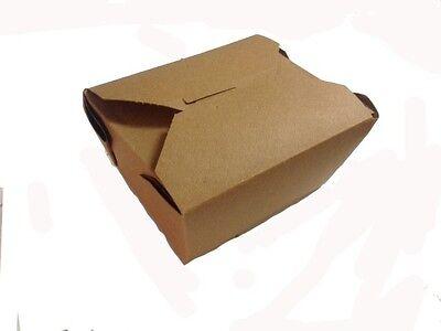 50 Ct Kraft Take Out Boxes - 4 38 X 3.5 X 2.5