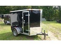 2015 new 5x8+2' Vnose Enclosed trailer w/ RAMP DOOR