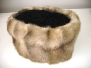 PERSIAN LAMB & MINK HAT(s) gorgeous AS NEW