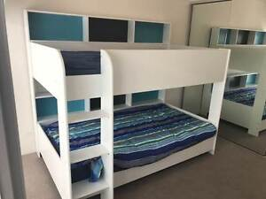 LATITUDE DOUBLE BUNK BED + 2 X KING SINGLE MATRESS West End Brisbane South West Preview