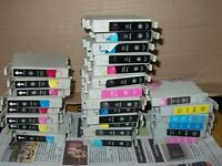 27 USED ink cartridges fit an Epson printer for recycling