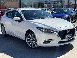 2019 Mazda 3 BN5238 SP25 SKYACTIV-Drive GT White 6 Speed Sports Automatic Sedan