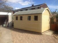 New Garden Shed, Superior Heavy Duty Tanalised Wood Dutch Barn, size 7ft x 5ft from just £658.00