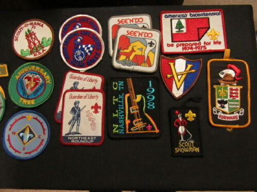 Boy Scout 68 National Issue Patches, and 26 Segments & Strips    NPC4