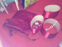 red lamps and curtains - £20