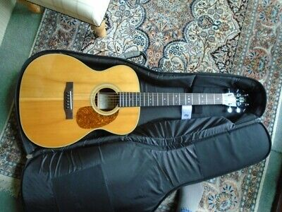 Johnson Carolina JO-17, 'OOO' Acoustic Guitar, Solid top, wide neck - 45mm